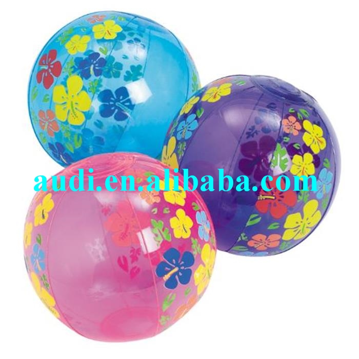Inflatable hibiscus beach ball,inflatable beach ball for sale