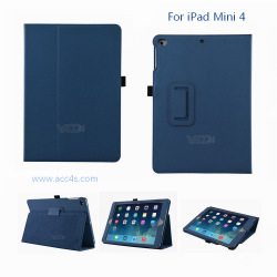 For iPad mini 4 Case Quality China Supplier OEM Service, 2 Fold Folio Leather Cover For iPad mini 4 Leather Case