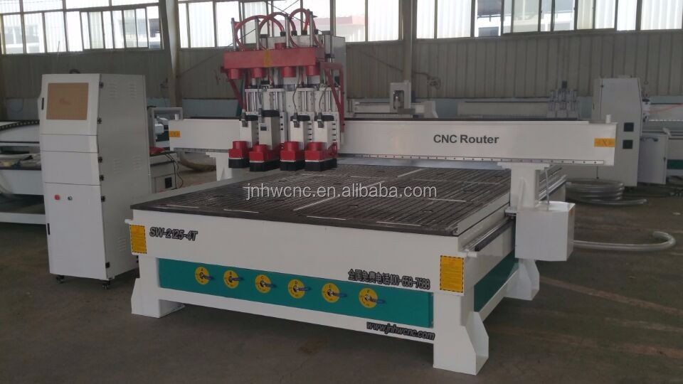 ATC pneumatic cnc router with 3 heads for wood engraving cutting pneumatic engraving head for cnc