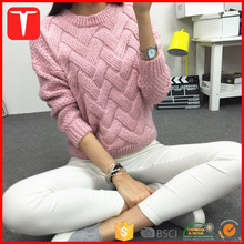 Latest designs heavy pullover winter sweater for woman