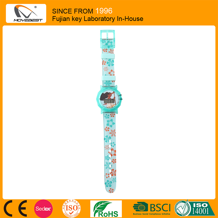 Popular Blue Plastic Kid Watch With LCD Digital Movement