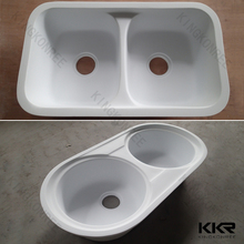 Exw price solid surface undermount triple bowl sinks