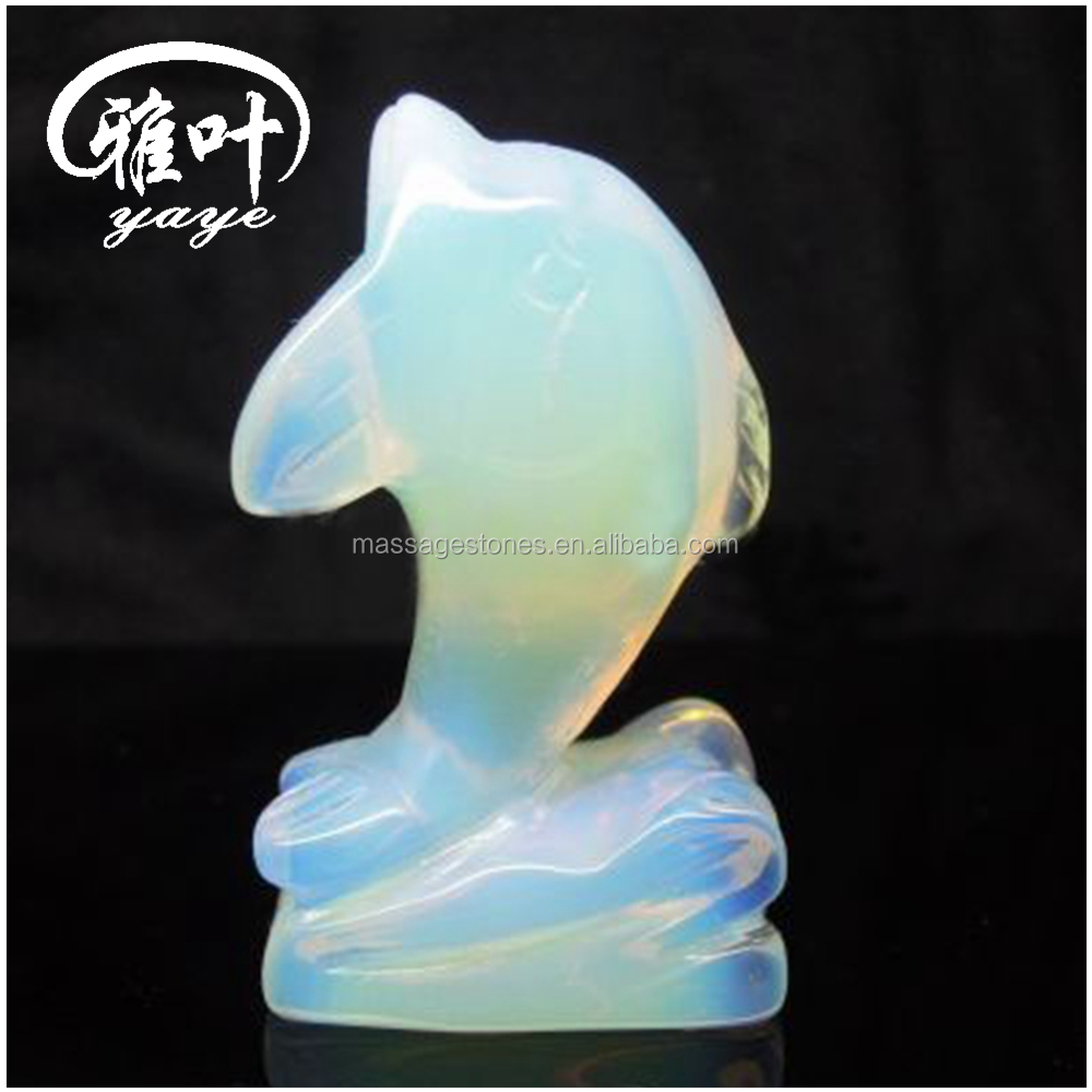 Bulk Wholesale Hand Opal Dolphin Figurines/Carvings Opal Carving