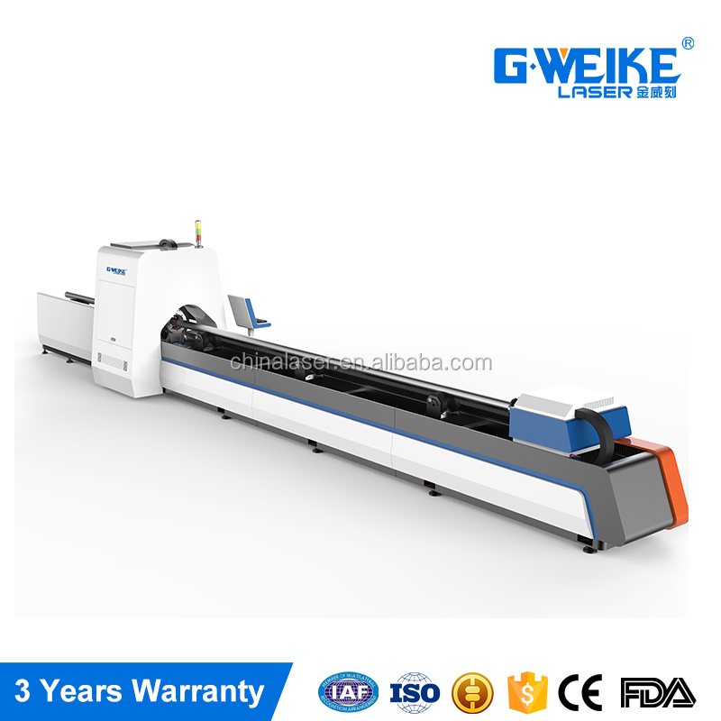 LF60M 1.5KW carbon fiber laser cutting machine for tube