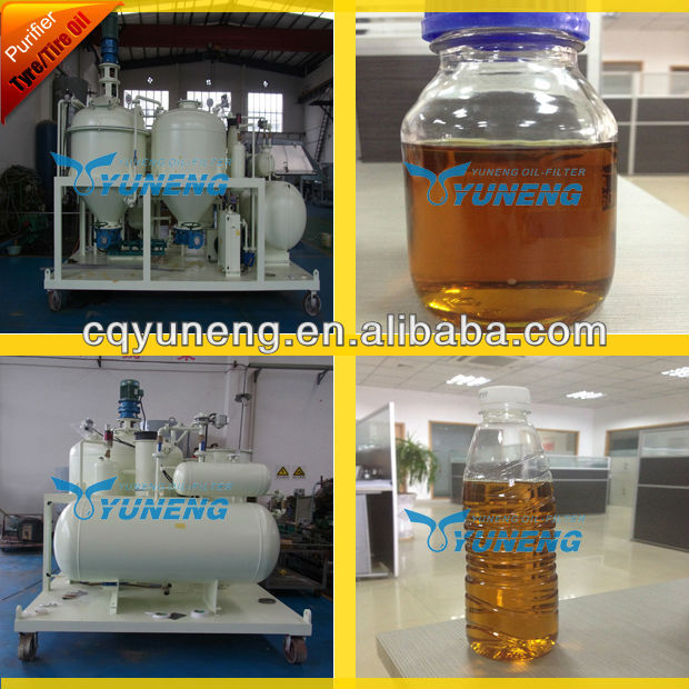 Waste used engine oil distillation equipment/oil recycling machine