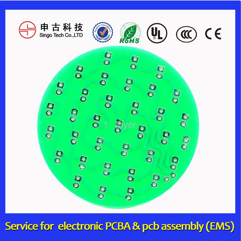 12 vac Prewired LED PCBA, round LED pcba, pcb design and assembly manufacturer
