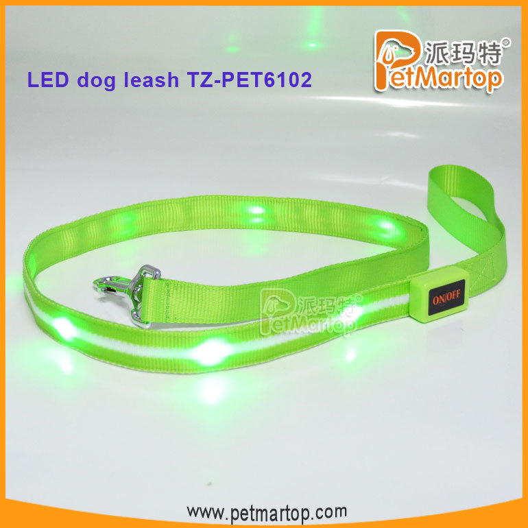 Flashing LED Pets articles in China TZ-PET6102 led retractable dog leash