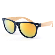 hot premium men promotional bamboo sunglasses 2014 uv400 with logo glasses DLK313B