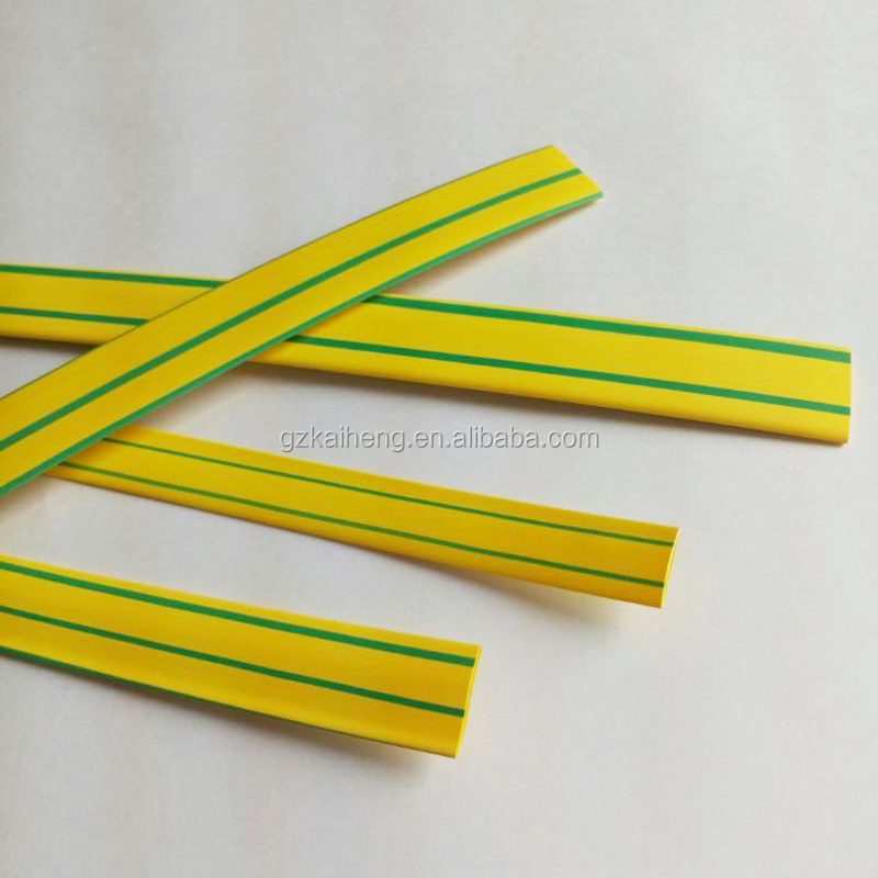 Grounding wire yellow-green color insulation heat shrink tubing from KOSOO