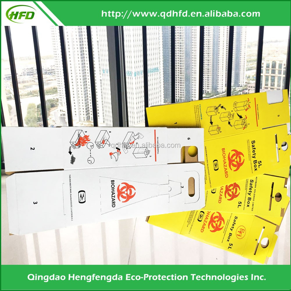 Hengfengda medical supply collector used needle safety box
