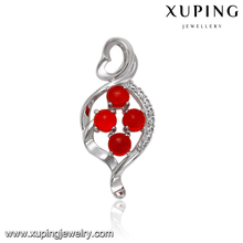 33098 XUPING 4 ruby diamond couple love fashion pendant, bohemian jewelry fake gold pendant