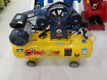100L 2051 lubracated piston air compressor with belt