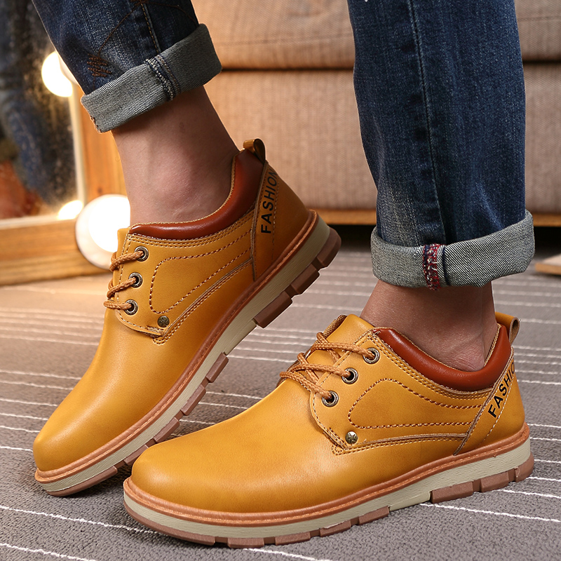 new design mens formal dress leather casual shoes