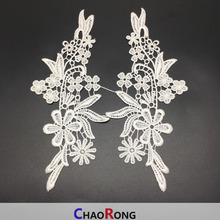 CRN0182 Hand Made Embroidery Fashion Ladies Neck Design Lace Crochet Lace New Pair Patch