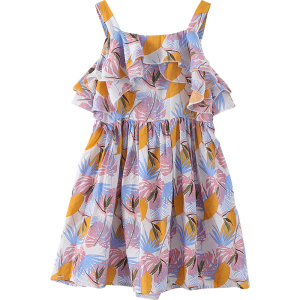 2019 fashionable kid girl dress beach dress for children