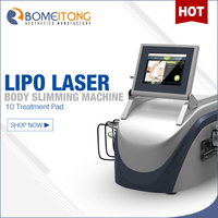 Portable salon use 650nm lipo laser 6-10 pads slimming machine