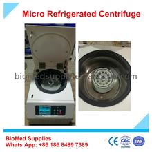 High speed table top refrigerated centrifuge