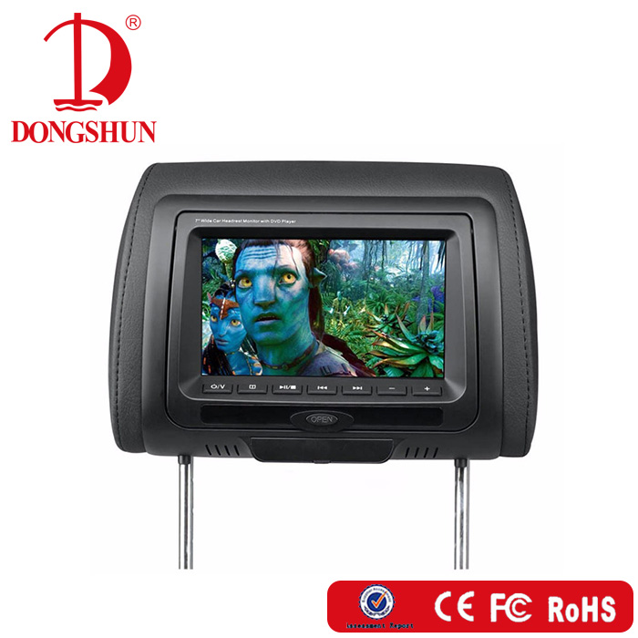 Best price hot selling 7 inch TFT-LED headrest monitor with DVD player and wireless games