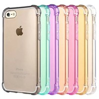 Transparent Shockproof TPU back case for iphone 7, for iphone7 soft clear case