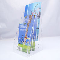 2014Hot Sale Customized 3 Tiers Acrylic Brochure Holder