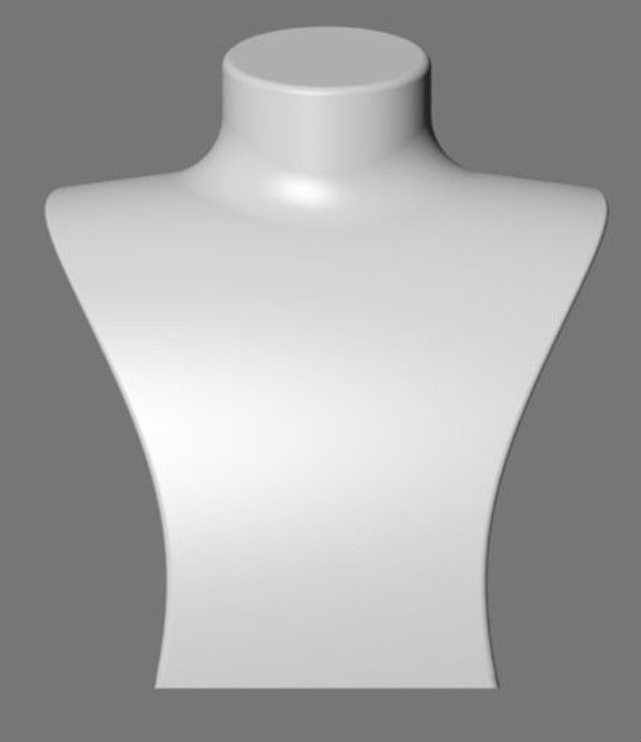 fiberglass jewelry bust for necklace display