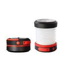 USB Rechargeable Foldable Waterproof Camping LED Solar Lantern with Mobile Phone Charger