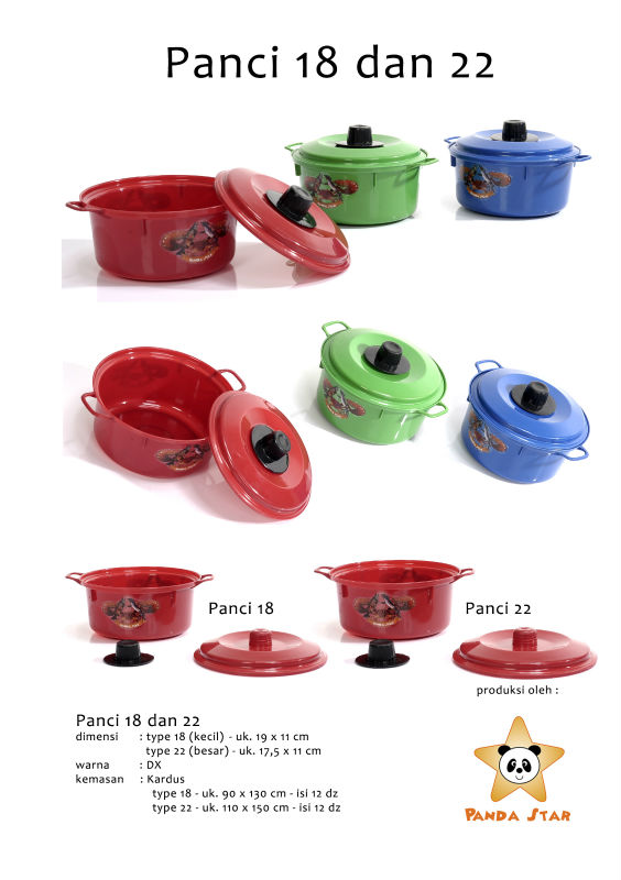 Pan shaped plastic container with lid 18 dx