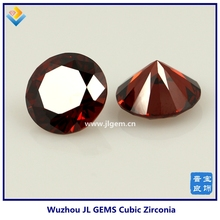 Synthetic Machine Cut Round Garnet Cubic Zirconia Gemstones