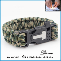different types of paracord bracelet with logo,fire starter outdoor survival paracord bracelet,Paracord survival wrist