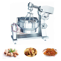XYZDCG-500 Central kitchen equipment industrial sauce ,nut cooking pot with mixer