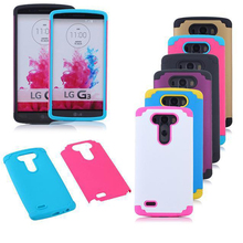 Hybrid shockproof cell phone case for lg g3 factory mobile phone cover