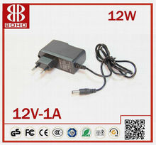hot sell best price 12V 1A 12W DC power LED strip adapter 2012 CE RoHS
