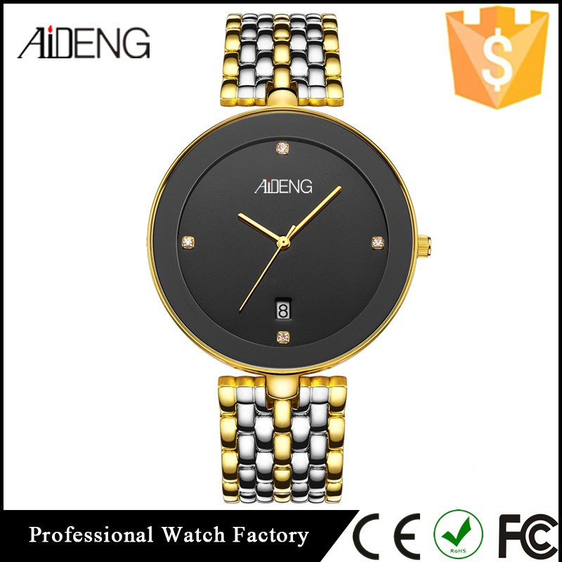 AIDENG Fashion Men Water-resistant Watches, Custom Made Stainless Steel Chronograph Watch, Quartz Watches for Men