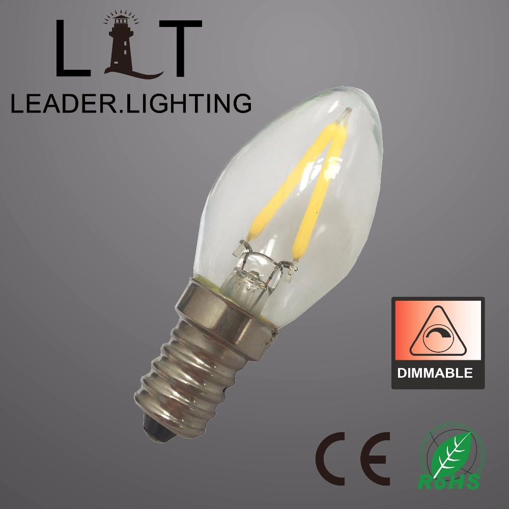 New Vintage Mini Led Light Bulb C7 Mini E14 E12 Led Lighting Bulb Mini Christmas Light Bulbs