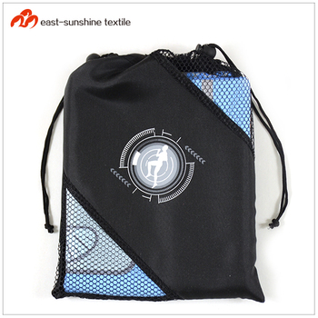 Printed Workout Microfiber Gym Towel with Custom Logo