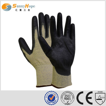 18gauge aramid PU coated cutting gloves cut resistant gloves