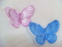 plastic multi-color christmas led acrylic butterfly