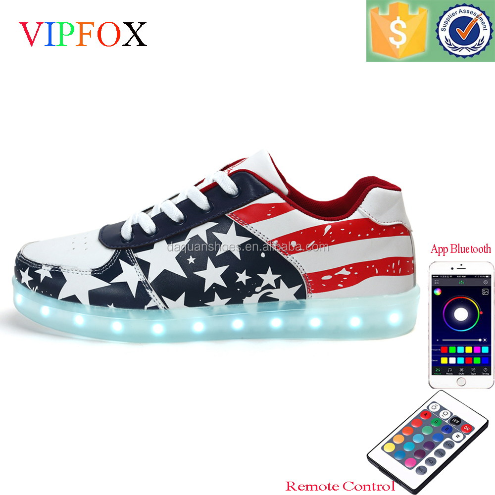2017 best online selling led shoes with USB Charge