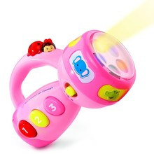 Dongguan ICTI GSV Factory Kids Pin and Learn Color Flashlight, Mini LED Falshlight Educational Toys For Kids