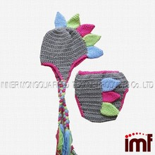 Dinosaur Hat and Diaper Cover newborn crochet costume prop set