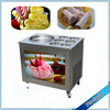 Fry rolled ice cream machine with double compressors