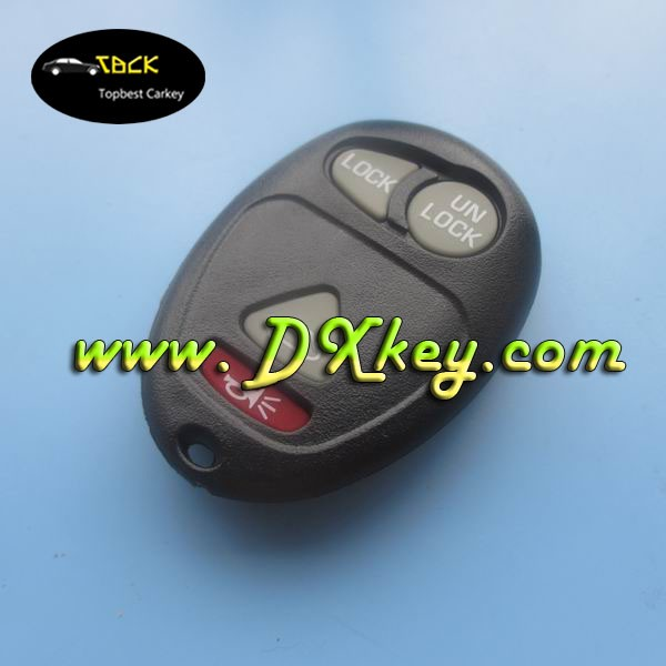 Topbest 3+1 buttons key casing with rubber pad with battery hold for GM remote shell GM key blank