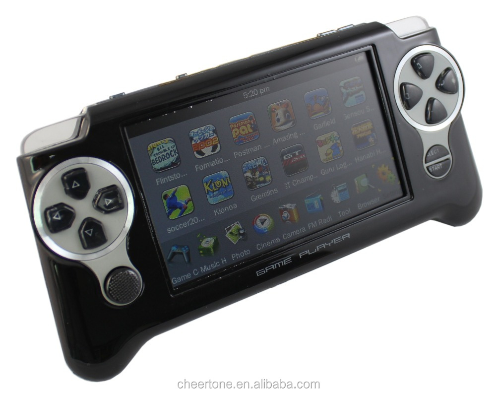 4.3 inch 32 bit handheld game console with camera