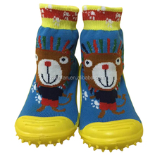 wholesale cute dog soft rubber sole baby shoe socks