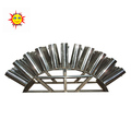 New product 2 inch 44 shots stainless steel fan-shaped fireworks display shelles mortar racks