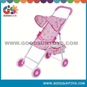 Newest designing stroller for dolls with new fabric good baby stroller