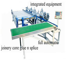 wood block board auto arrange n glue machine /plywood macking machine