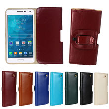 Genuine Leather Litchi Holster Pouch Case For Samsung A7,for samsung a7 case cover