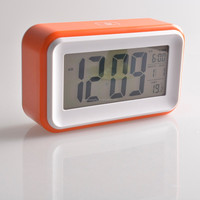 2015 popular calendar Digital table LCD alarm clock with light and snooze function