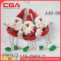 Santa claus doll clothes christmas fabric doll clothes X'mas fabric doll ornaments